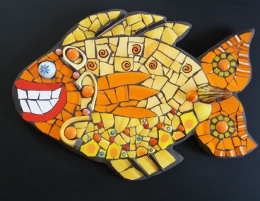 Gladys the Gorgeous Goldfish mosaic