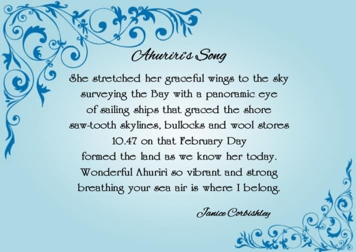 Ahuriri's Song Card